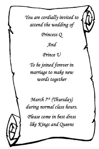 Q and U invite
